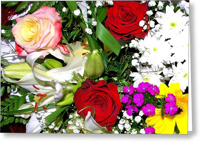 Saddlebag Greeting Cards - Saddlebag With Flowers Greeting Card by Artur Gjino