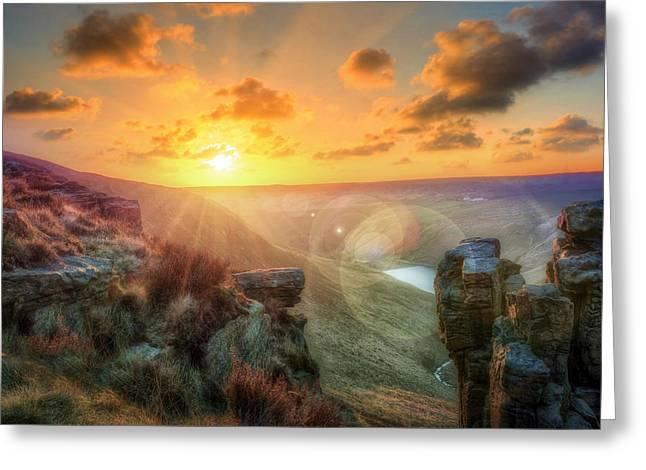 Warm Summer Greeting Cards - Saddleworth Moor #4 Greeting Card by Jason Green