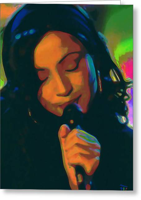 Woman Head Greeting Cards - Sade 2 Greeting Card by  Fli Art