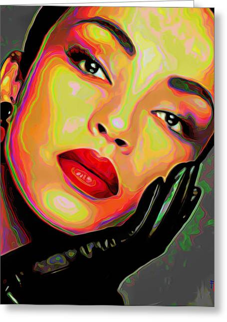 Storm Prints Digital Art Greeting Cards - Sade 4 Greeting Card by  Fli Art