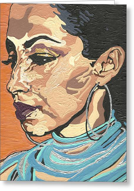 Rnb Greeting Cards - Sade Adu Greeting Card by Rachel Natalie Rawlins