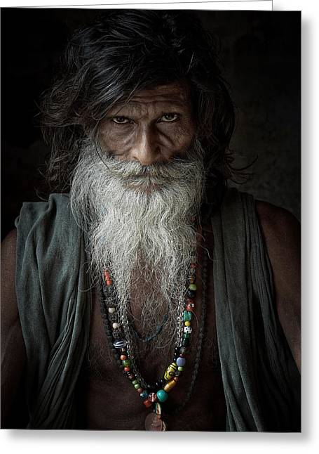 Accomplice Greeting Cards - Sadhu III Greeting Card by Gilles Lougassi