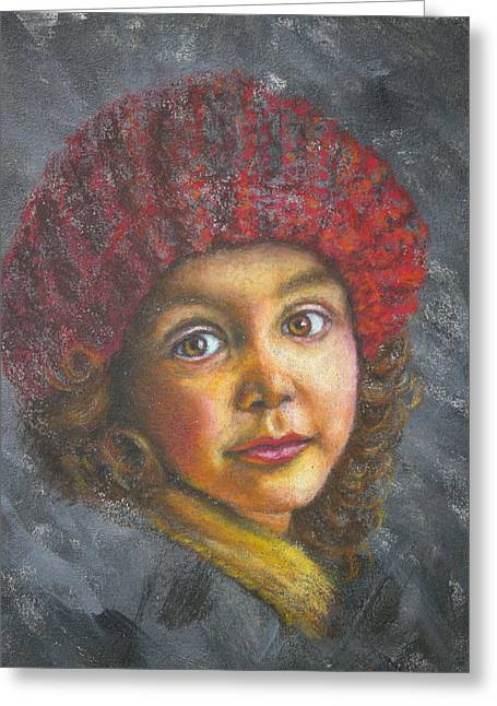 Portraitist Greeting Cards - Sadie Greeting Card by Anthony  Baxton