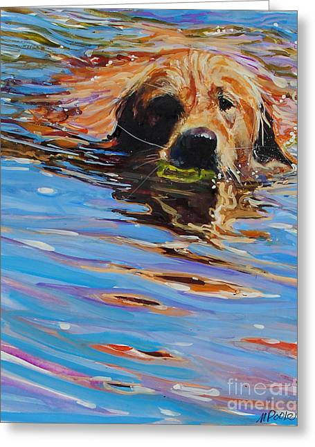Swimming Greeting Cards - Sadie Has A Ball Greeting Card by Molly Poole