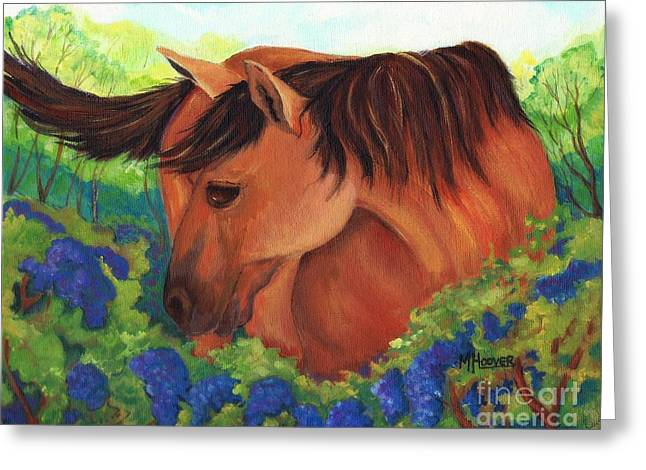 Arkansas Paintings Greeting Cards - Sadie Tiptoes Among The Grapes Greeting Card by MarLa Hoover