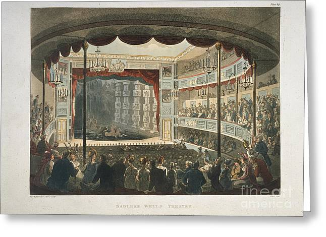 Rowlandson Greeting Cards - Sadlers Wells Theatre Greeting Card by British Library