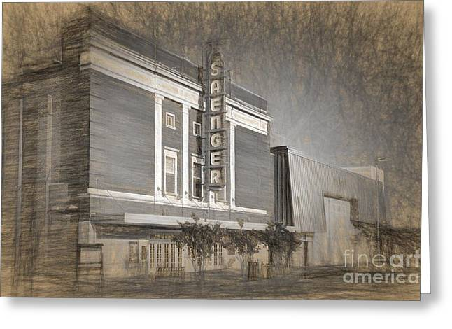 Saenger Theater Biloxi Greeting Card by Joan McCool