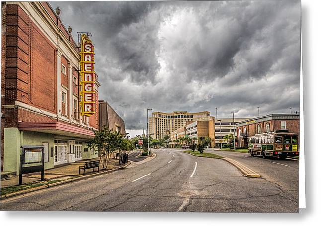 Saenger Theater Greeting Card by Brian Wright