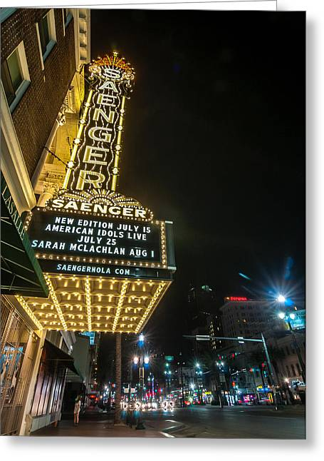 Saenger Theatre Greeting Card by Andy Crawford
