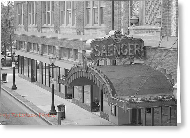 Saenger Greeting Cards - Saenger Theatre Greeting Card by Jerry Robertson