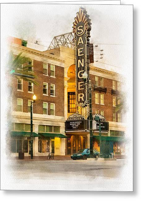 Saenger Theatre New Orleans Paint 2 Greeting Card by Steve Harrington