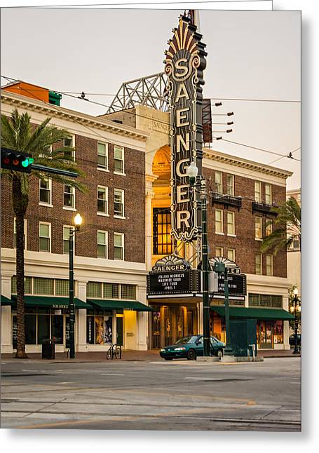 Saenger Theatre New Orleans Greeting Card by Steve Harrington