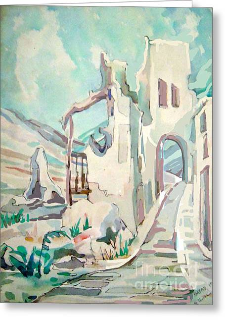 Jewish Art Greeting Cards - Safed  Israel Greeting Card by Shirl Solomon