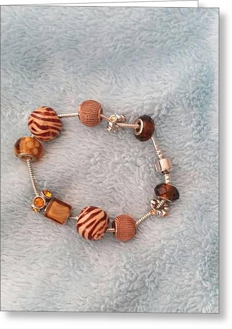 Zebra Jewelry Greeting Cards - Safari Bracelet Greeting Card by ARTography by Pamela  Smale Williams