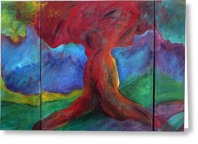 Fauvist Style Greeting Cards - Safe Arbor Greeting Card by Elizabeth Fontaine-Barr