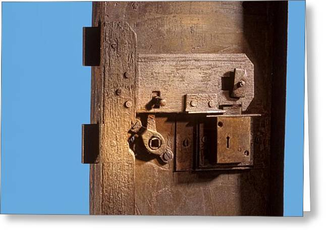 Safe door from the Titanic Greeting Card by Science Photo Library