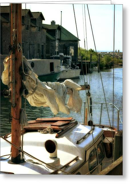 Leland Greeting Cards - Safe Harbor in Fishtown Greeting Card by Michelle Calkins