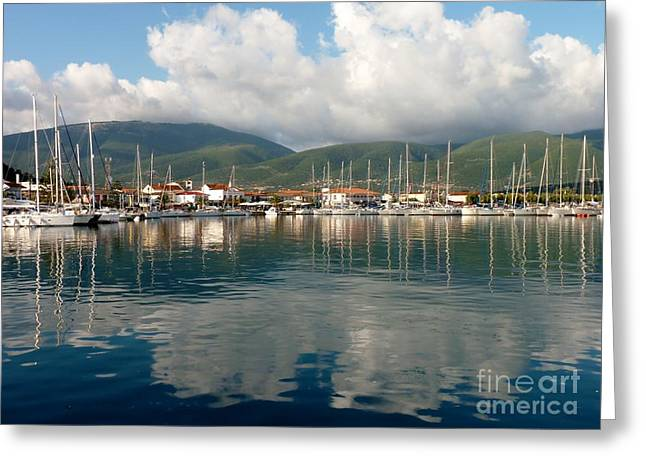 Sailboat Art Greeting Cards - Safe Harbor Greeting Card by MAK Photography