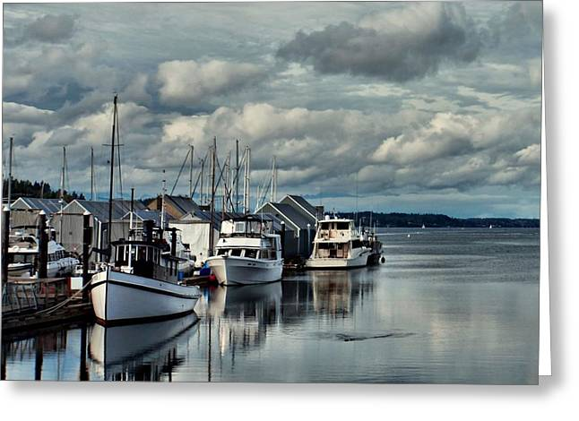 South Puget Sound Greeting Cards - Safe Harbor Greeting Card by Patricia Strand