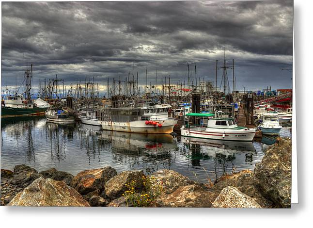 French Creek Marina Greeting Cards - Safe Haven Greeting Card by Randy Hall