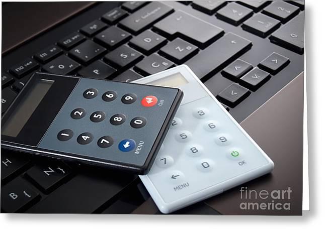 Purchasing Greeting Cards - Safe online banking Greeting Card by Sinisa Botas