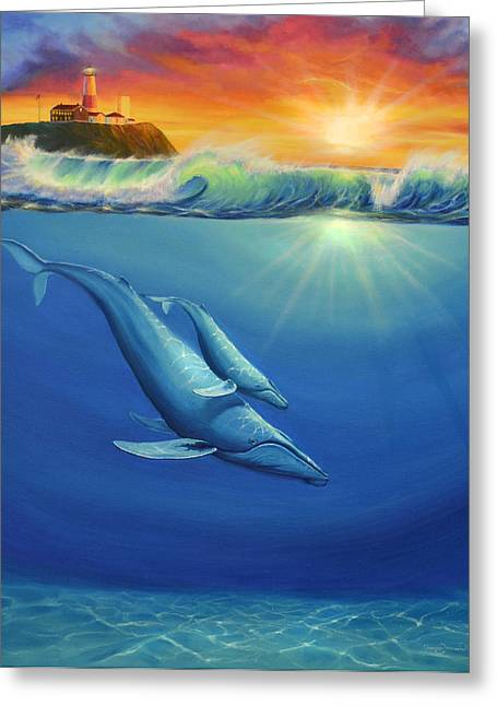 Recently Sold -  - Surf City Greeting Cards - Safe Passage Greeting Card by James Corwin