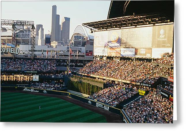 Wa Greeting Cards - Safeco Field Seattle Wa Greeting Card by Panoramic Images