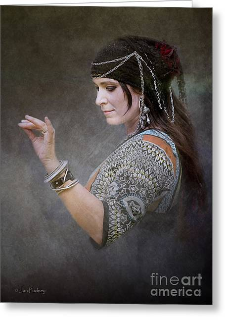 Tribal Belly Dance Greeting Cards - Saffron 4 Greeting Card by Jan Pudney