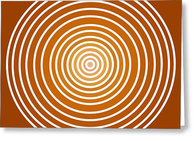 Apricots Paintings Greeting Cards - Saffron Colored Abstract Circles Greeting Card by Frank Tschakert