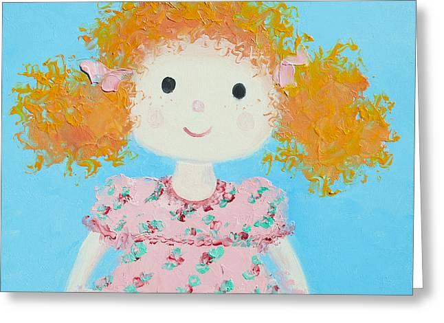 Babys Greeting Cards - Saffron Greeting Card by Jan Matson