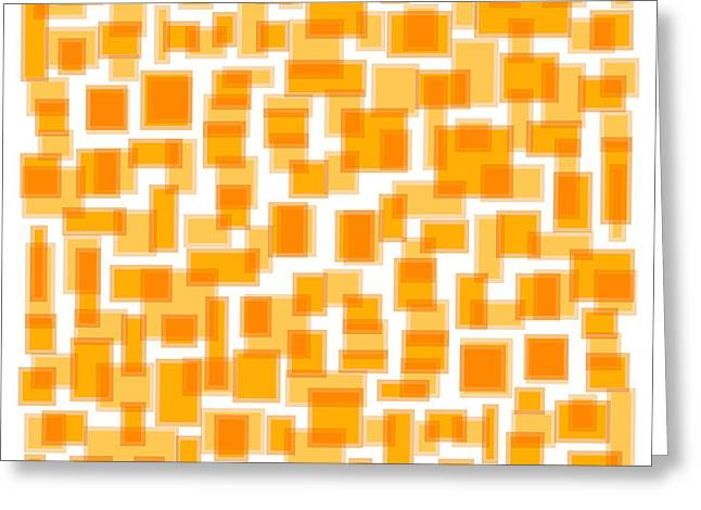 Saffron Yellow Abstract Greeting Card by Frank Tschakert