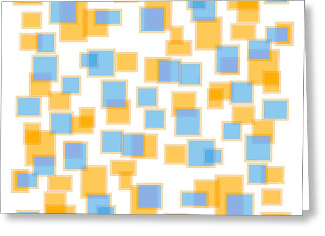 Saffron Yellow And Azure Blue Greeting Card by Frank Tschakert