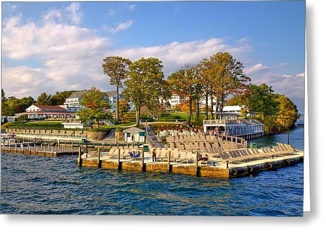 The Lake George Greeting Cards - Sagamore Hotel - Lake George Greeting Card by David Patterson
