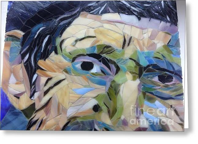 People Glass Art Greeting Cards - Sage 1 Greeting Card by Beverly Thomas Jenkins