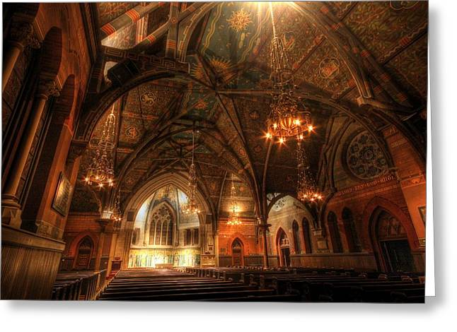 Ithaca Greeting Cards - Sage Chapel - Cornell Greeting Card by Nomad Art And  Design