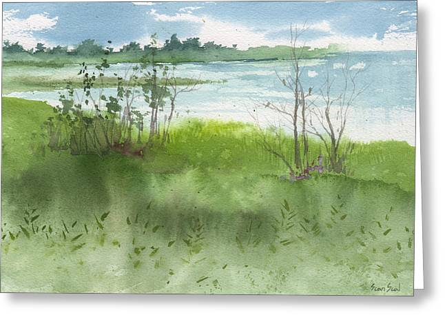 Saginaw Bay 7-26-13 Greeting Card by Sean Seal