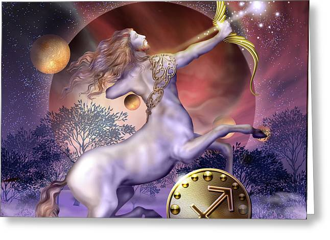 Personality Greeting Cards - Sagittarius Greeting Card by Ciro Marchetti