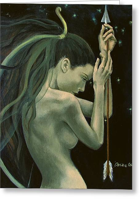 Zodiac. Greeting Cards - Sagittarius from Zodiac series Greeting Card by Dorina  Costras