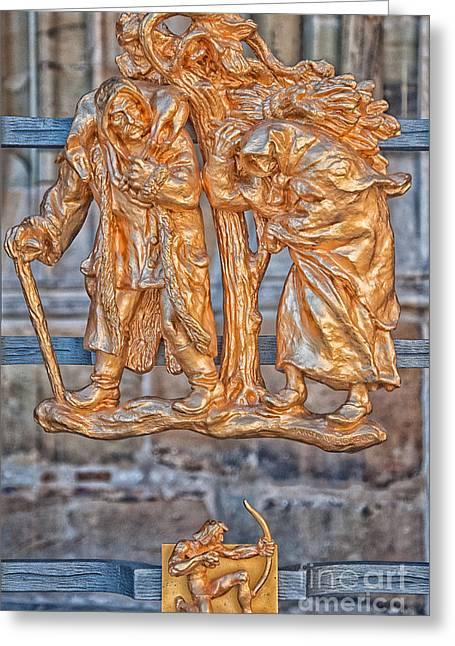 Archer Greeting Cards - Sagittarius Zodiac Sign - St Vitus Cathedral - Prague Greeting Card by Ian Monk