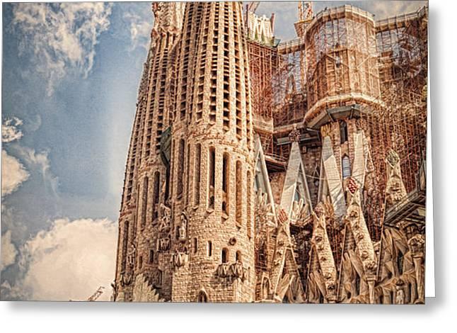 Sagrada Familia Greeting Card by Erik Brede