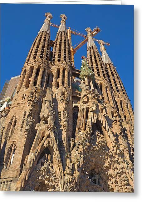 Royal Family Arts Greeting Cards - Sagrada Familia in Barcelona Greeting Card by Jaroslav Frank