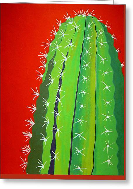 Shades Of Red Greeting Cards - Saguaro Cactus Greeting Card by Karyn Robinson
