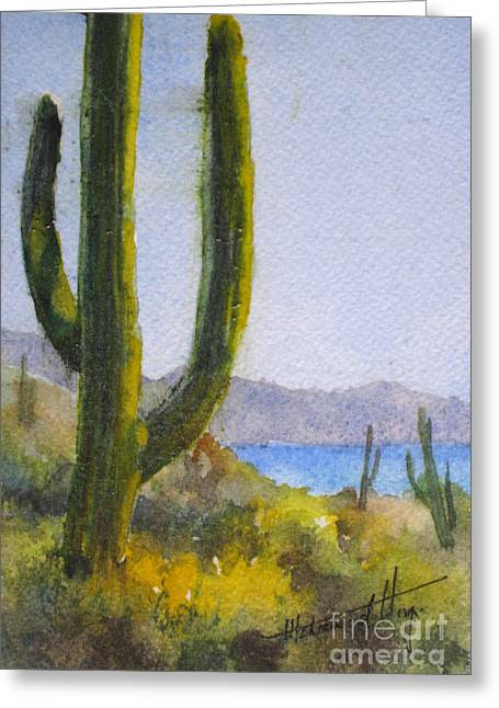 Saguaro Greeting Card by Mohamed Hirji