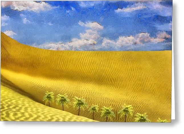 Pharaoh Greeting Cards - Sahara desert Greeting Card by George Rossidis