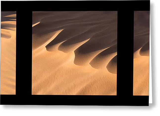 Har Greeting Cards - Sahara triptych Greeting Card by Delphimages Photo Creations