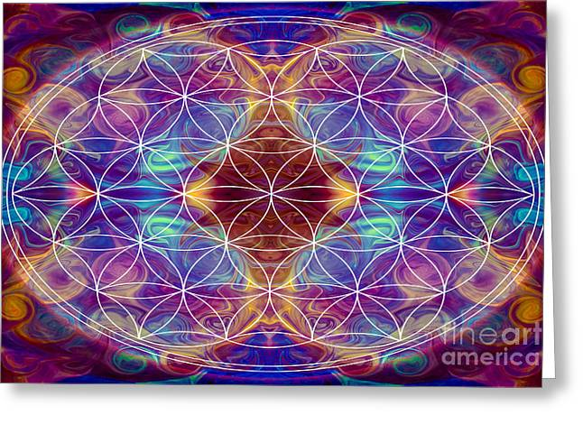 Sahasrara Greeting Cards - Sahasrara Abstract Chakra Art by Omaste Witkowski Greeting Card by Omaste Witkowski
