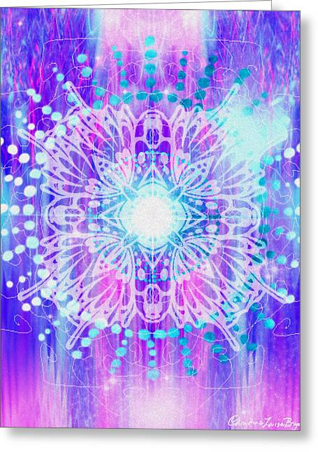 Sahasrara Greeting Cards - Sahasrara - Chakra 7 Greeting Card by Christine Louise Bryant