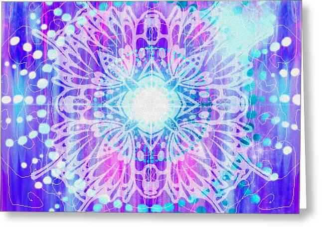 Sahasrara - Chakra 7 Greeting Card by Christine Louise Bryant