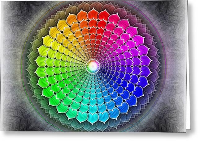 Chakra Rainbow Digital Art Greeting Cards - Sahasrara Chakra Series IV Greeting Card by Dirk Czarnota