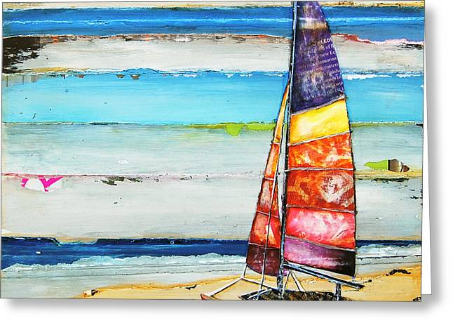 Sailboat Art Greeting Cards - Sail Away Greeting Card by Danny Phillips